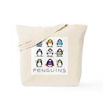 9 Penguins Tote Bag