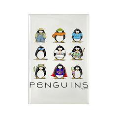 9 Penguins Rectangle Magnet (100 pack)