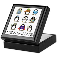 9 Penguins Keepsake Box