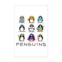 9 Penguins Posters