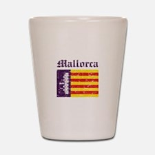 Mallorca flag designs Shot Glass