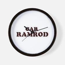 Car Ramrod Wall Clock