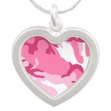 Pink camouflage necklace Necklaces