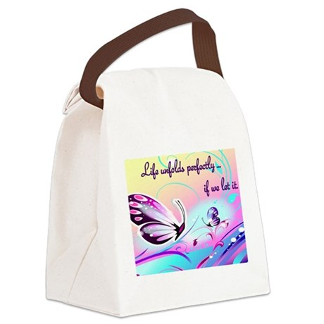 Life Unfolds Canvas Lunch Bag