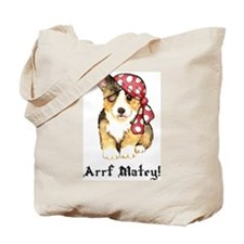Welsh Corgi Pirate Tote Bag