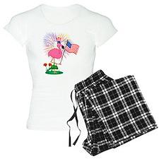 Funny 4th of July Flamingo Pajamas