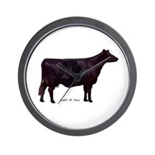 Angus Beef Cow Wall Clock