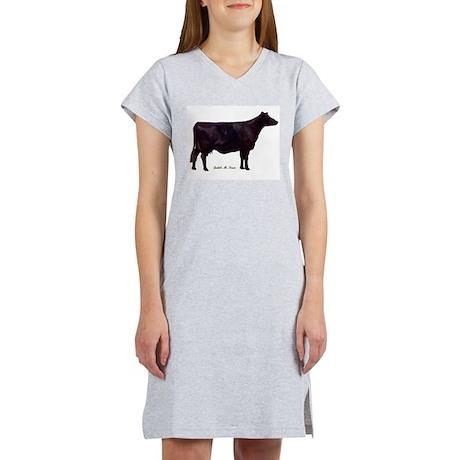 Angus Beef Cow Women's Nightshirt