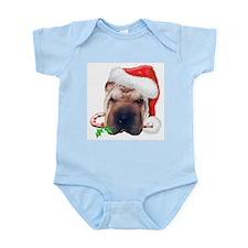 Shar-Pei Christmas Infant Bodysuit