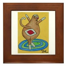 Boogie Sock Monkey Framed Tile