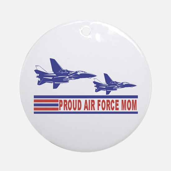 Proud Air Force Mom Ceramic Ornament