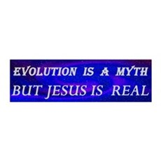 Evolution Is a Myth Wall Decal