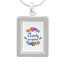 Aunts are Special Silver Portrait Necklace