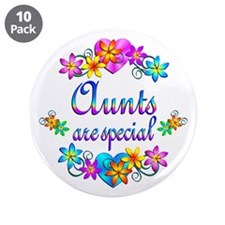 """Aunts are Special 3.5"""" Button (10 pack)"""