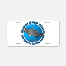 Great days start with striper's Aluminum License P