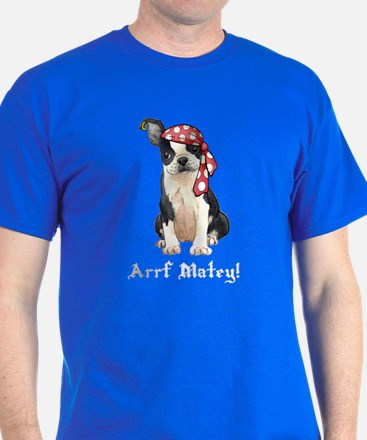 Boston Terrier Pirate T-Shirt