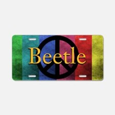 Peace Beetle Aluminum License Plate