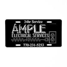 Ample Electric Aluminum License Plate