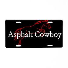 Asphalt Cowboy Aluminum License Plate