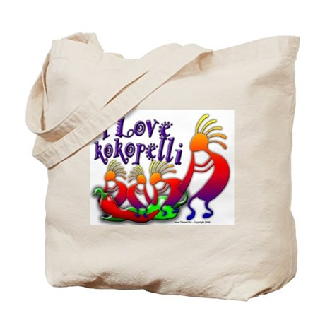 I Love Kokopelli Tote Bag