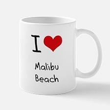 I Love MALIBU BEACH Mug