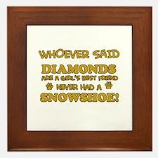 Snowshoe cat lover designs Framed Tile