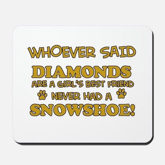 Snowshoe cat lover designs Mousepad