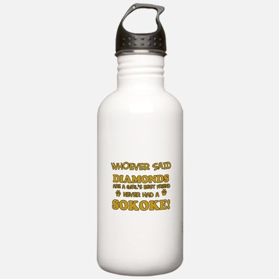 Sokoke cat lover design Water Bottle