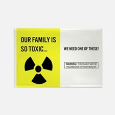 Toxic Family Rectangle Magnet