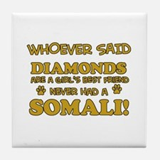 Somali cat lover designs Tile Coaster