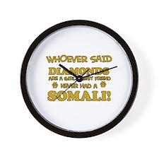 Somali cat lover designs Wall Clock