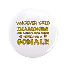 """Somali cat lover designs 3.5"""" Button"""