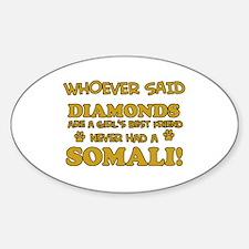 Somali cat lover designs Sticker (Oval)