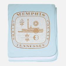 Vintage Memphis baby blanket