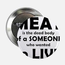 "Meat is a dead body! 2.25"" Button"