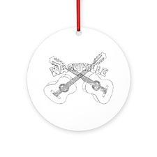 Nashville Guitars Ornament (Round)