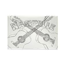 Nashville Guitars Rectangle Magnet (100 pack)