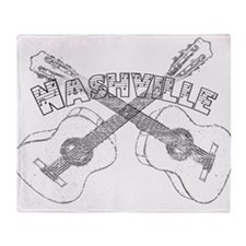 Nashville Guitars Throw Blanket