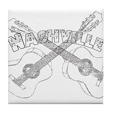 Nashville Guitars Tile Coaster
