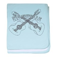 Nashville Guitars baby blanket