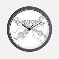 Tennessee Guitars Wall Clock