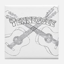 Tennessee Guitars Tile Coaster