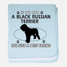 Black Russian Terrier merchandise baby blanket