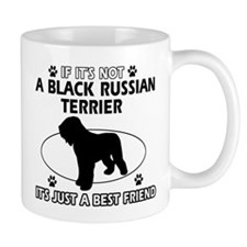 Black Russian Terrier merchandise Small Mugs