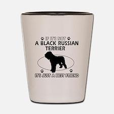 Black Russian Terrier merchandise Shot Glass