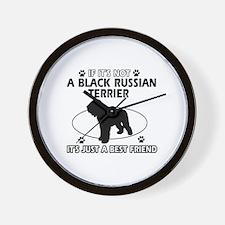 Black Russian Terrier merchandise Wall Clock