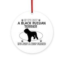 Black Russian Terrier merchandise Ornament (Round)