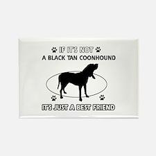 Black Tan Coonhound merchandise Rectangle Magnet (