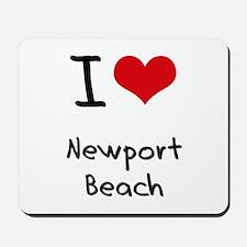 I Love NEWPORT BEACH Mousepad