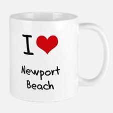 I Love NEWPORT BEACH Mug